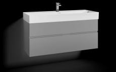 Forma underskab 120x45C grå 2 skuffer Box One+ greb 6