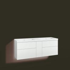 Forma underskab 140x45D hvid 4 skuffer Box One+ 1 dør
