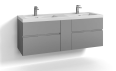 Forma underskab 140x45 grå 4 skuffer Box One+ greb 6
