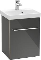 V&B A887 Avento vaskeskab venstre Crystal Black