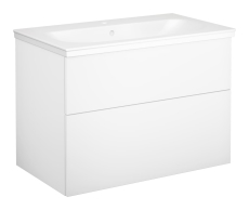 Artic møbelsæt 80 cm med 2 skuffer hvid, vask med 1 hanehul