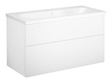 Artic møbelsæt 100 cm med 2 skuffer hvid, vask med 2 hanehul