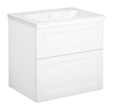 Artic møbelsæt 60 cm med 2 skuffer hvid, vask med 1 hanehul