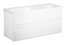Artic møbelsæt 120 cm med 4 skuffer hvid, dobbeltvask