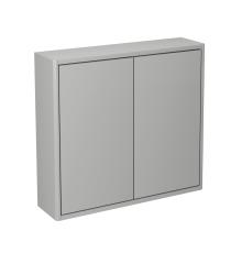 Graphic vægskab 60x55x16 cm med 2 låger grå glat