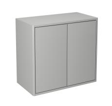 Graphic vægskab 60x55x32 cm med 2 låger grå glat