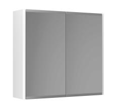 Graphic Spejlskab 60x55x16 cm hvid dobbeltsidet spejl 2 hyld