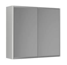 Graphic Spejlskab 60x55x16 cm grå dobbeltsidet spejl 2 hylde