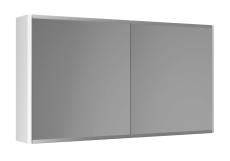 Graphic Spejlskab 100x55x16 cm hvid dobbeltsidet spejl 2 hyl