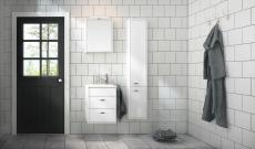 Gustavsberg Graphic møbelsæt 45 cm med 2 skuffer hvid, vask