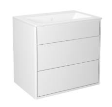 Graphic møbelsæt 60 cm med 2 skuffer hvid, vask 1 hanehul