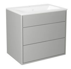 Graphic møbelsæt 60 cm med 2 skuffer grå, vask 1 hanehul
