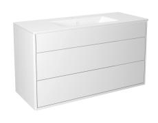 Graphic møbelsæt 100 cm med 2 skuffer hvid, vask 1 hanehul