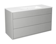 Graphic møbelsæt 100 cm med 2 skuffer grå, vask 1 hanehul