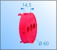Pudsudligningsring Ø60 mm, H14,5 mm, 1261-60