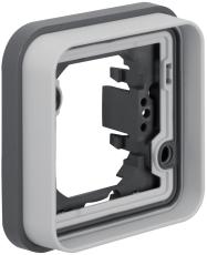 Berker Ramme enkelt grå W.1 IP55