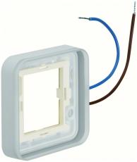 Berker Ramme enkelt 230V belyst blå W.1 IP55