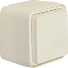 Berker Stikkontakt schuko komplet W.1, hvid, IP55