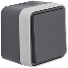 Berker Trykkontakt komplet grå W.1 IP55