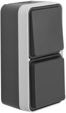 Berker Afbryder/Stikkontakt Schuko komplet grå W.1 IP55