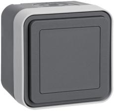 Berker Blinddæksel komplet grå W.1 IP55