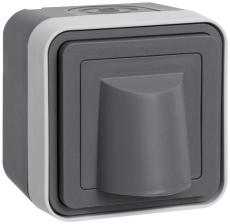 Berker Kabeludtag komplet grå W.1 IP55