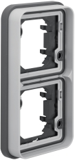 Berker Ramme dobbelt lodret grå W.1 IP55