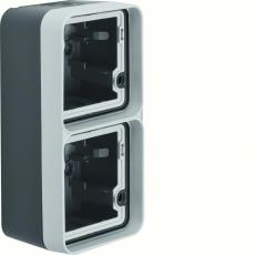Berker Underlag dobbelt Lodret grå W.1 IP55