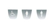 Intra Sanitet Millinox dørskilt handicap