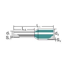 Tylle Isolerede 16 mm² grøn H16,0/22 (100) (W)