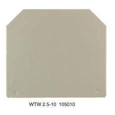 Endeplade / Skilleplade WAP/WTW beige