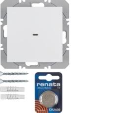 KNX/QL enkelt trådløst tryk s.1., hvid