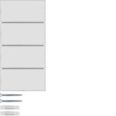 KNX tryk 4 tangenter komfort 2 s./b., hvid
