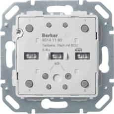 KNX tryk enkelt med temperaturføler s./b.