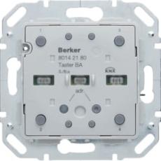 KNX tryk dobbelt med temperaturføler s./b