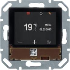 KNX rumføler med tft display, integreret buskobling