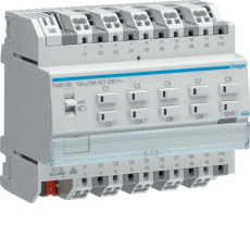 KNX afbryder/persienne easy 10x10a relæudgang, 5 x persienne