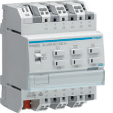 KNX afbryder/persienne easy 6x16A relæudgang, 3 x persienne