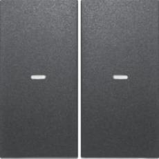 tangent dobbelt med linse for tastetryk s./b., antracit