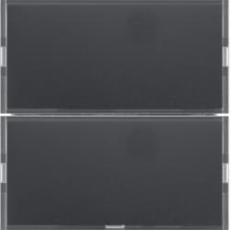 KNX tryk 2 tangenter komfort 2 s./b., antracit
