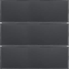 KNX tryk 3 tangenter komfort 2 s./b., antracit