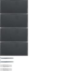 KNX tryk 4 tangenter komfort 2 s./b., antracit