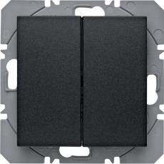 KNX/QL dobbelt trådløst tryk med batteri s.1. antracit
