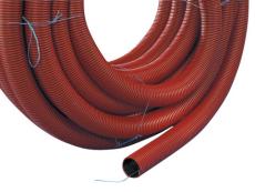 Kabelrør PEH 110/94 mm med træktråd rød R50