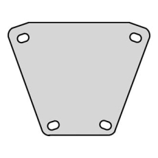 Afgreningsplade 48 45° FZV