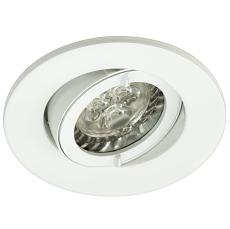 LED INDBYGNINGSARMATUR IP44 GU10 3W/830 HVID
