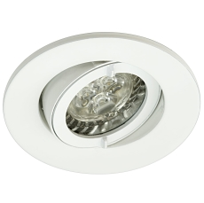 LED INDBYGNINGSARMATUR IP44 GU10 3W/830 ANTRCIT