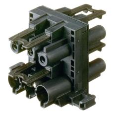 GST18i3 Fordelerblok 1i/3O Sort 3P M/Flange
