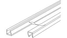 Minikanal LC 57 5x7,5 mm klar