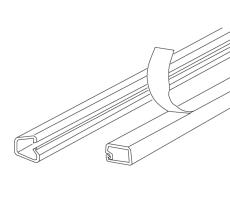 Minikanal LCD 86 9,5x10 mm hvid